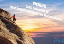 Durch Klettern breiter Rücken Ganzkörpertraining