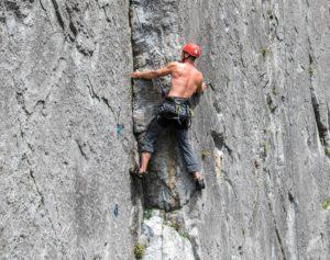 Klettern breiter Rücken