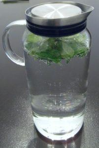 Wasser Krug Minzgetränk