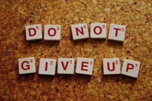 Trainingsfehler do nor give up