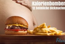 Versteckte heimliche Kalorienbomben Burger Pommes