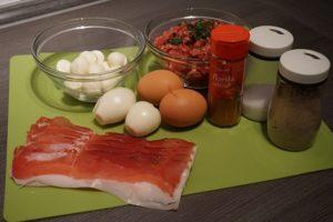 Zutaten Fitness Low Carb Fleischbällchen mit viel Protein