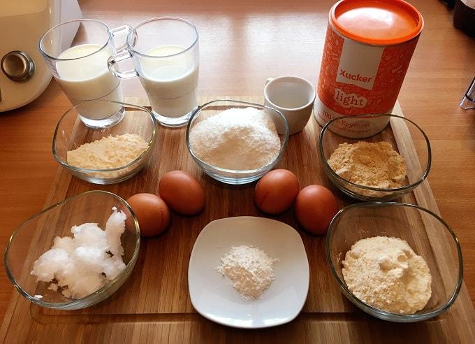 Fitness Kokoskuchen Zutaten