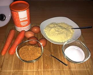 Zutaten Leckere Fitness Muffins mit Karotte