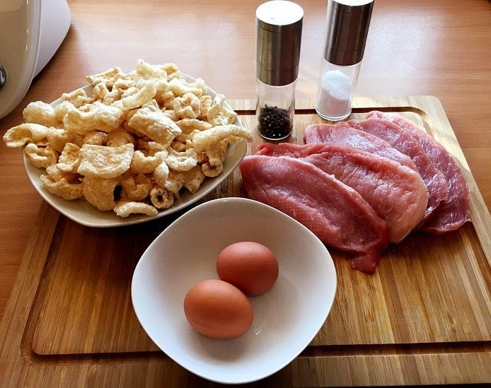 Zutaten für Low Carb Schnitzel