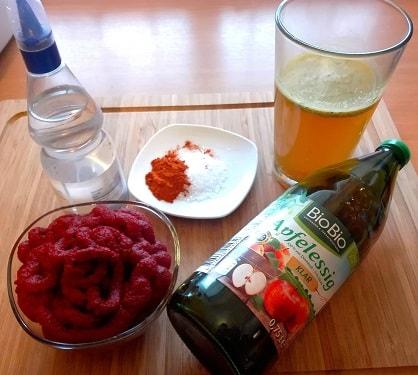 Zutaten für Fitness Ketchup Rezept (Low Carb)