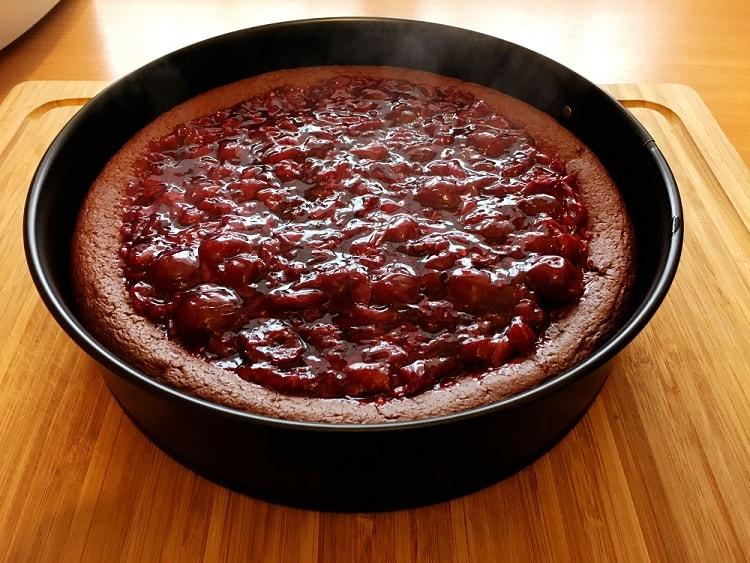 Heißer Schokoladenkuchen ohne Mehl