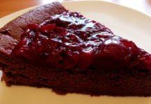 Stück Schokoladenkuchen Low Carb