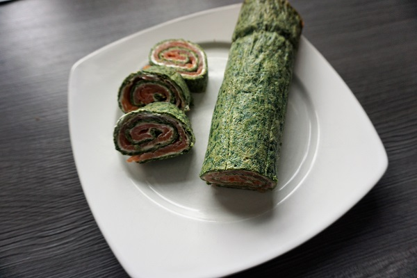 Low Carb Spinat Lachs Rolle Rezept