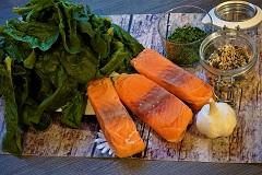 Rezept Low Carb Wildlachs mit Blattspinat Zutaten