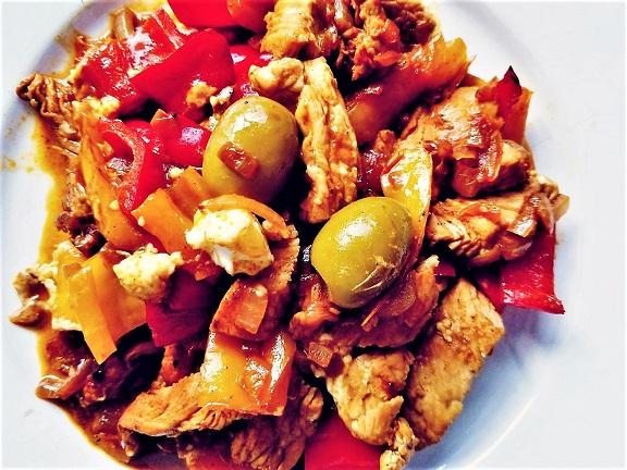 Fitness Low Carb Geflügelpfanne griechischer Art