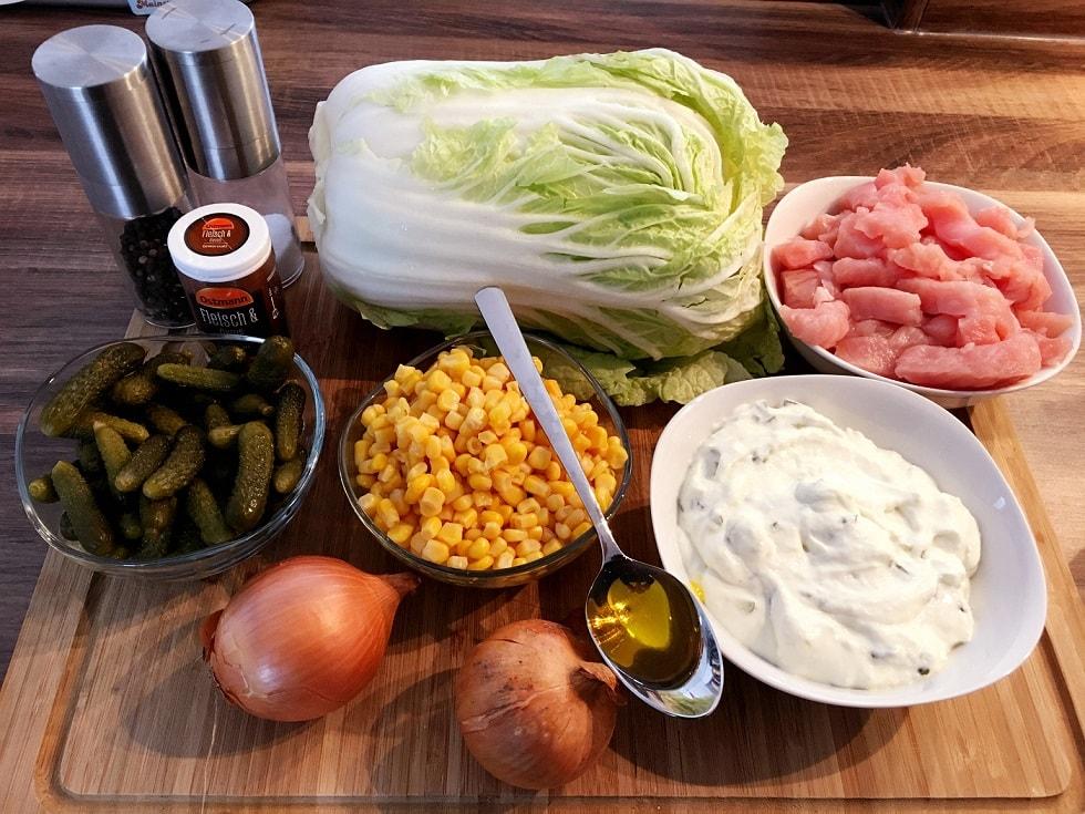 Zutaten für Gyrossalat - Fitness Schichtsalat