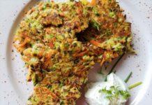 Low Carb Gemüsepuffer vegetarisch