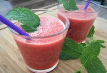 Smoothie mit Wassermelone und Traube