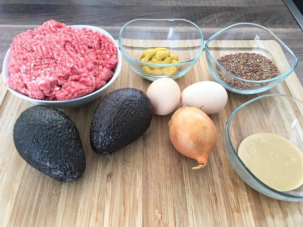 Zutaten für Fitness Frikadellen mit Avocado und Tahin