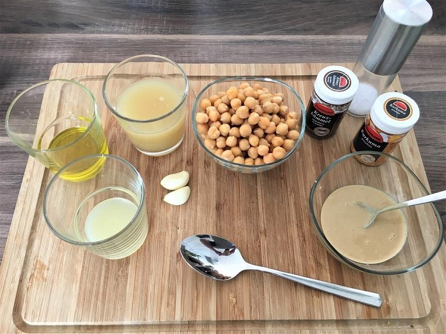 Fitary´s Hummus Zutaten