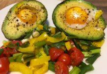 Fertiger Avocadoauflauf mit falschem Kern