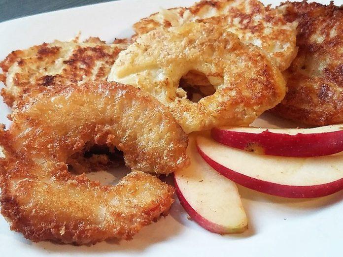 Protein Apfelringe Protein Snack zum selber machen