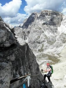 Abstieg Toblinger Knoten Ostseite, Klettersteig Sextner Dolomiten