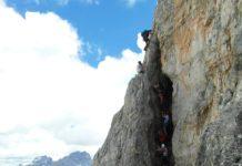 Toblinger Knoten Leitensteig, Klettersteig Sextner Dolomiten, Kriegssteig