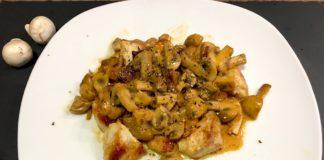 Schnelle Low Carb Geflügelpfanne mit Champignons