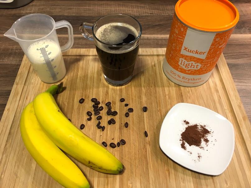 Zutaten für Fitary´s Kaffee Smoothie