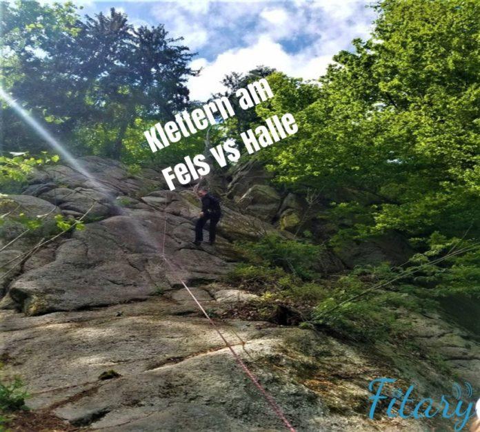 Klettern am Fels vs Halle