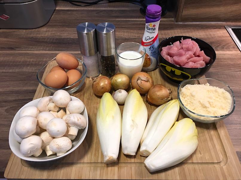 Zutaten für Low Carb Putenauflauf mit Chicorée