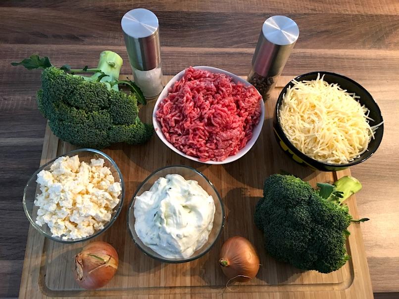 Zutaten Brokkoli Tzatziki Auflauf mit Hackfleisch
