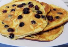 Blaubeer Pancakes Low Carb