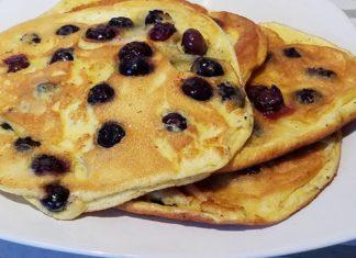 Blaubeer Pancakes Low Carb