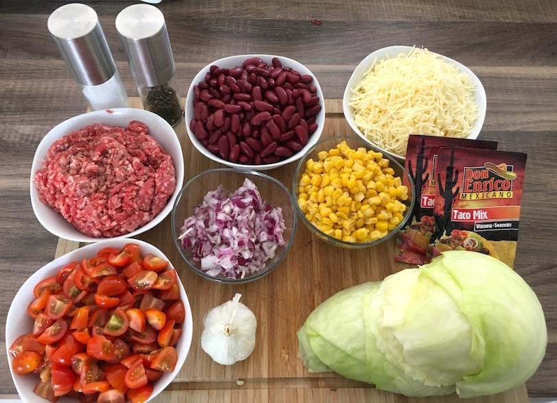 Burritoauflauf Zutaten