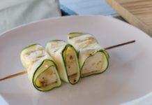 Zucchini Feta Röllchen Spieße