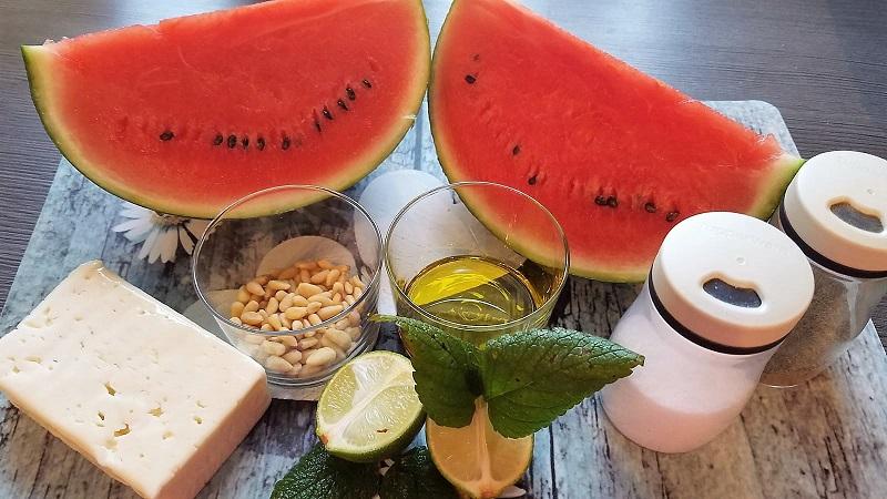 Wassermelonen Sommersalat