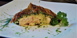 Lachs Spinat Auflauf mit Couscous