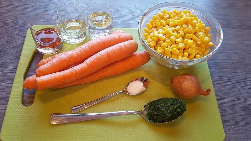 Karotten Mais Salat, Beilagensalat