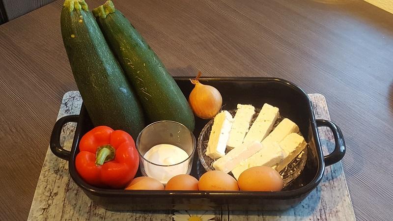Zucchini Feta Auflauf