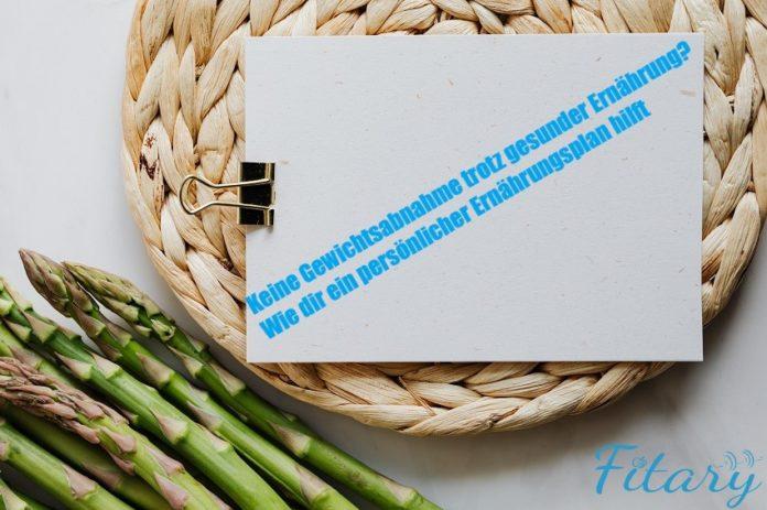 Keine Gewichtsabnahme trotz gesunder Ernährung? Wie dir ein Ernährungsplan hilft